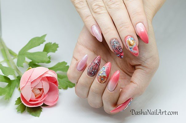 Indian Style Nail Art Design