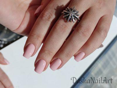 Short Natural pink nails