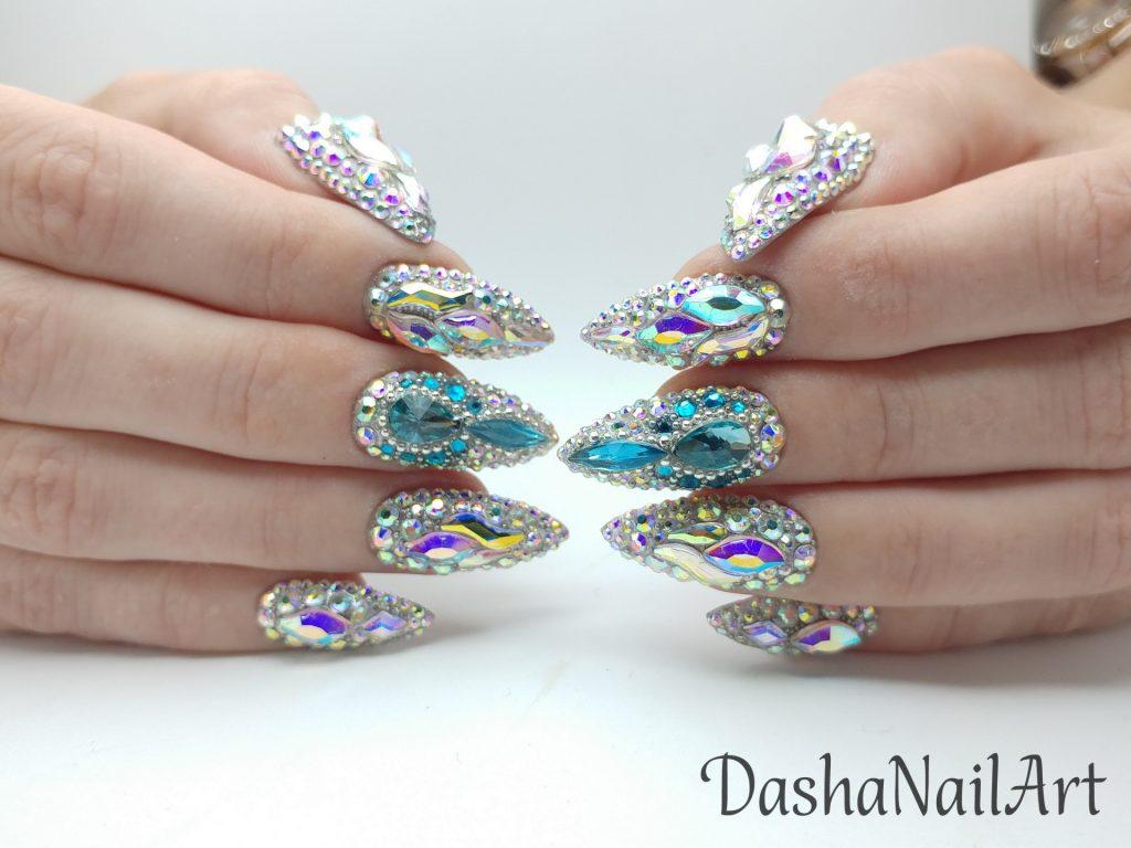 Million dollar diamond nails