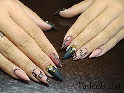 Royal Nude nails