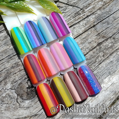 Stripe nails - bright and colorful!