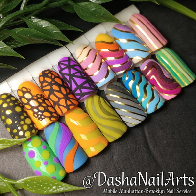 3D Rainbow colorful nails (summer designs)