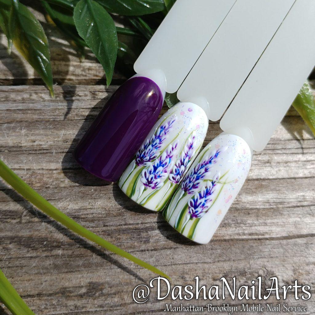 Wild flowers nail art