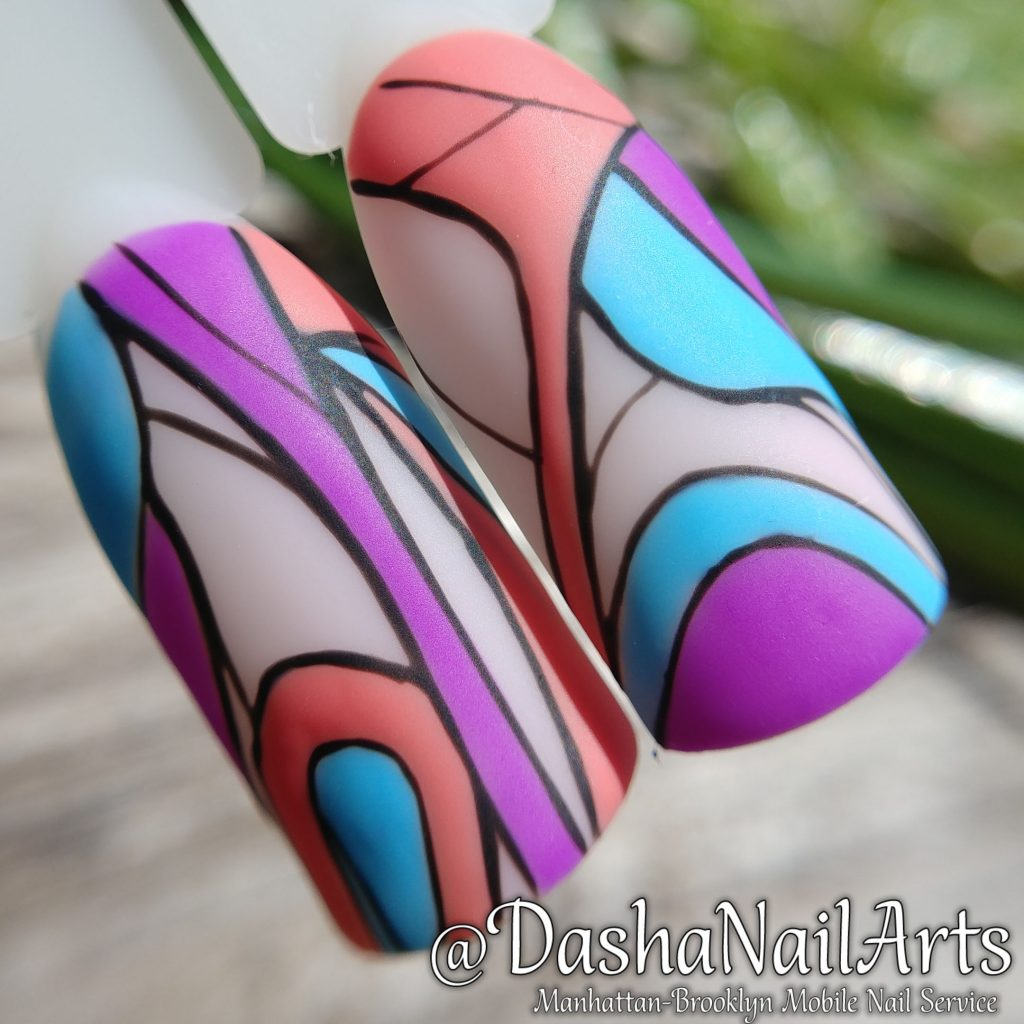 Abstract Geometric nail design