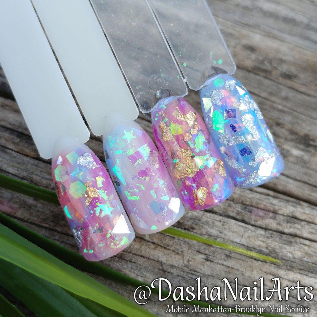 Sparkle Aquarium nails
