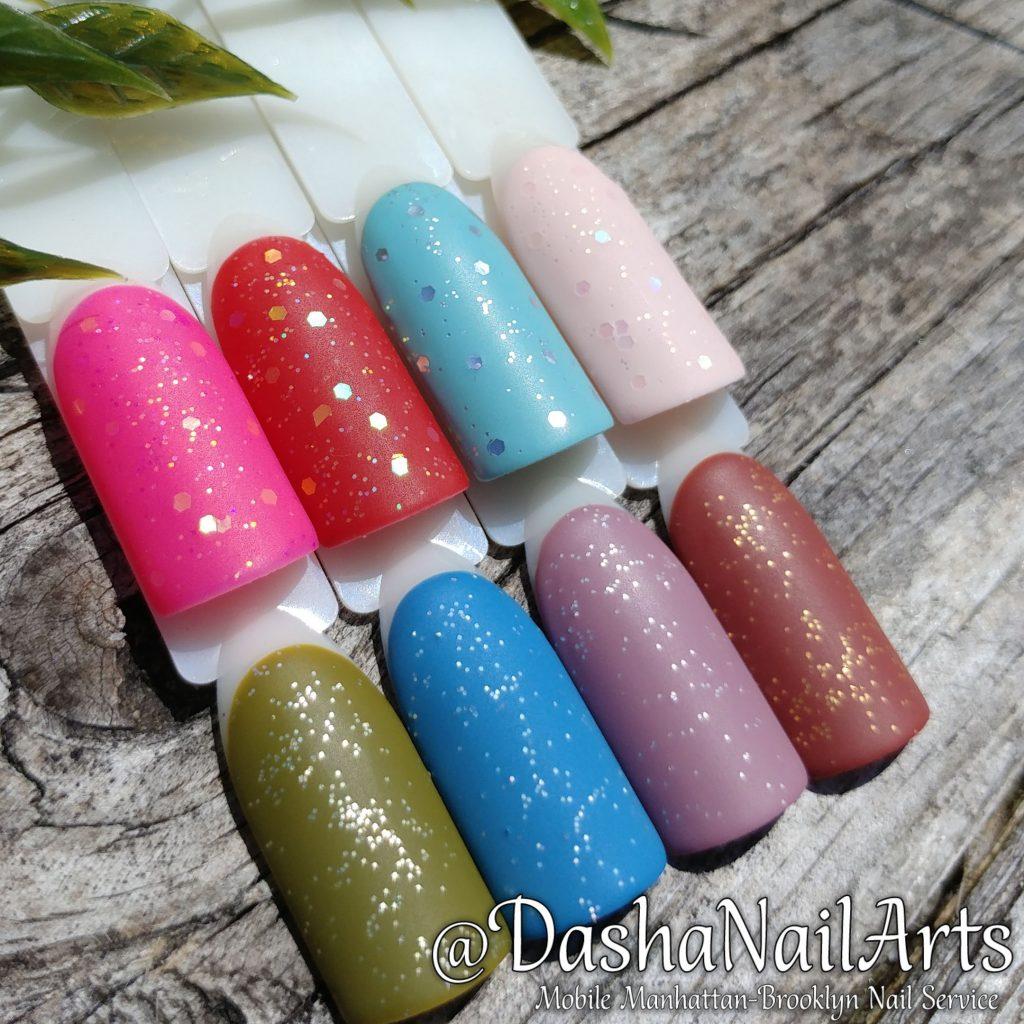 Set of Sprinkle nail designs