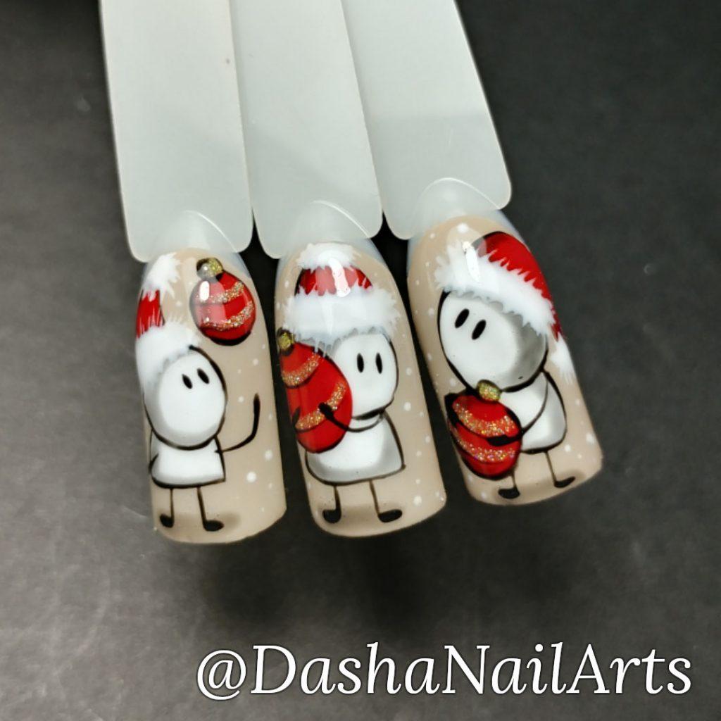 Funny Santa nail art