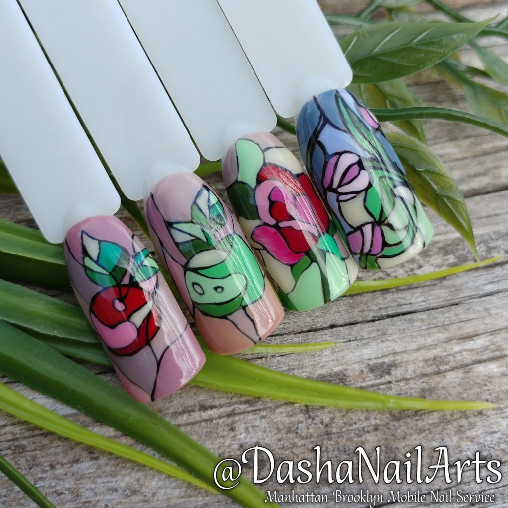 Stained-glass window nails