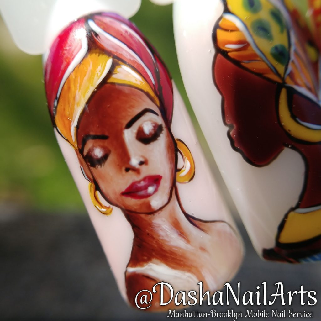 Portrait Nails with African women