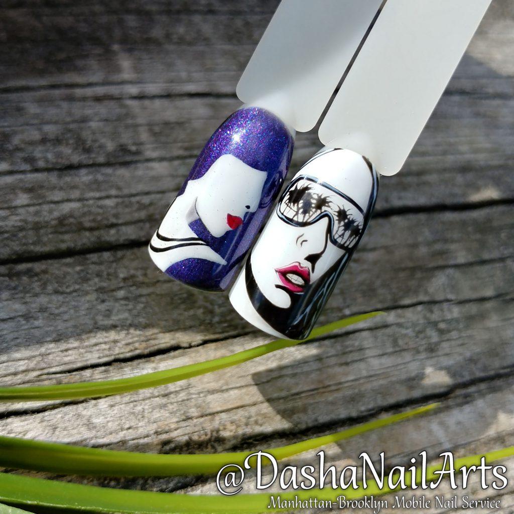 Graffiti face nails