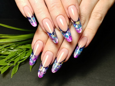 Aquarium french nails