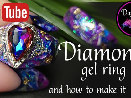 TUTORIAL how to make a gel ring with a huge diamond